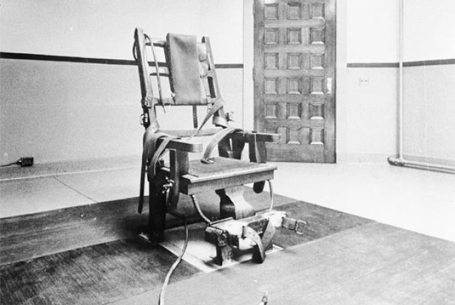 Sing Sing's death chamber as it was in August, 1963.