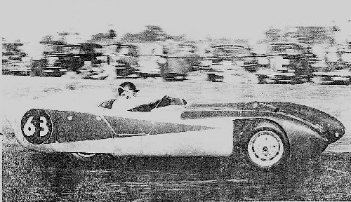 The Lotus 8 sports-racer, as driven at Davidstow by John Coombs.