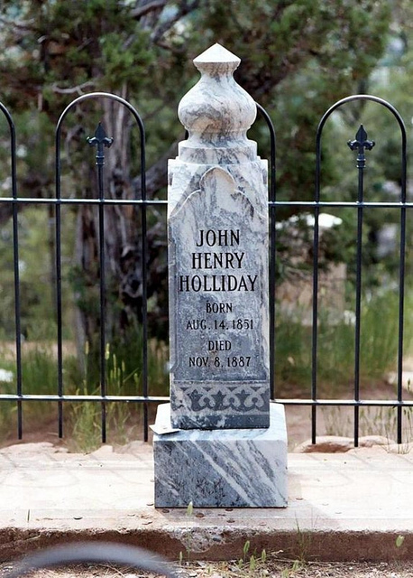 Holliday's memorial in Linwood Cemetery, Glenwood Springs, Colorado.
