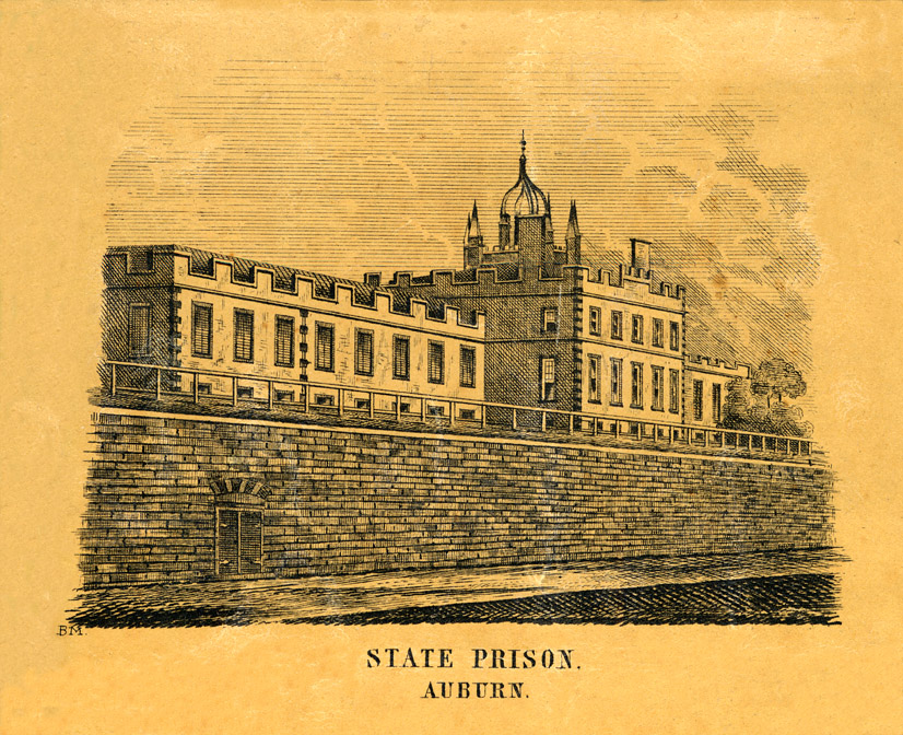 The grim facade of Auburn Prison in upstate New York, the prison is still in use, but New York repealed the death penalty in 1965. The last execution in New York was in August, 1963.