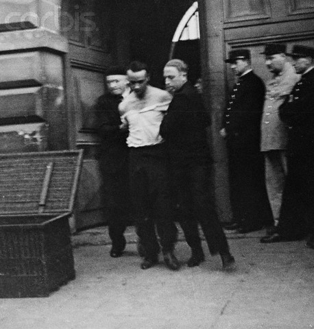 Eugene Weidmann Being Led to Guillotine